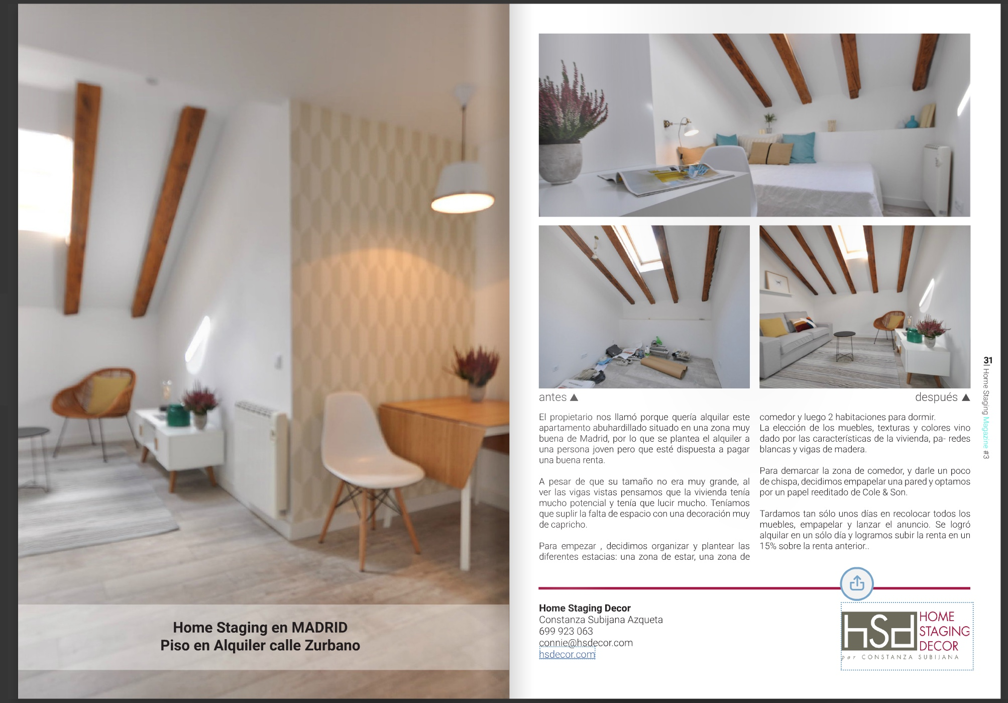 ya est aqu el 4 n mero de la home staging magazine me encanta hsdecor. Black Bedroom Furniture Sets. Home Design Ideas